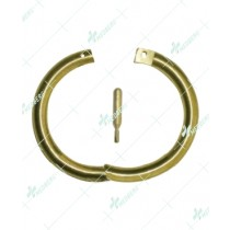 Bull Nose Ring Brass