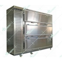 3 doors mortuary chamber cold storage 3 bodies  morgue refrigerator with full stainless steel