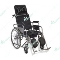 Commode Wheelchair for Users with Stroke/Pamplegia/Gatism