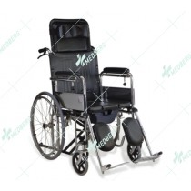 Commode Wheelchair for Users with Paralysis/Gatism