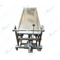 High quality hospital use mortuary equipment mortuary trolley