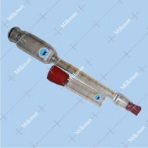 Milk Powder Butyrometer Corning Glass 0-35% with cup & rubber stopper