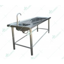 Stainless steel 304 Dissecting table autopsy table with weep hole