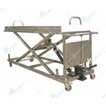Hydraulic stainless steel 304 mortuary corpese lifting trolleys