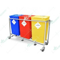 Waste Segregation Trolleys (Mild Steel) 60 Ltr