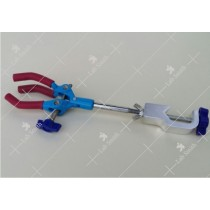 Three Prong Clamp, Aluminium with attached Boss Head
