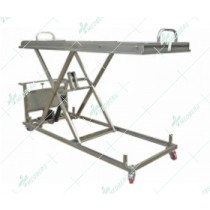 400-1500mm Height adjustable Stainless Steel 304 mortuary stretcher