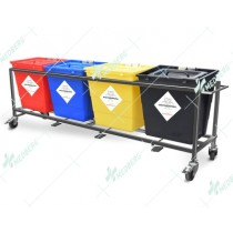 Waste Segregation Trolleys (Mild Steel) 30 Ltr