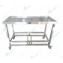Mortuary Dissecting Cart Mortuary stainless steel table
