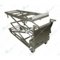 Two scissors morgue corpses transfer lifting cart