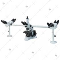 Multi-Viewing Head Microscopes