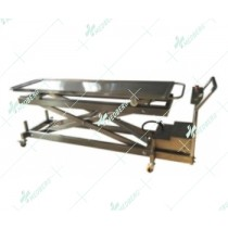 Stainless steel morgue body lifter, it is in electrical model.
