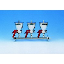 AS300 Three-place vacuum filtration system, Stainless Steel