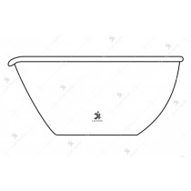 Dishes Evaporating, Flat Bottom, with Spout