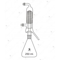 Distillation Apparatus, compact, Consists of 1000 ml. Erlenmeyer flask, Friedrich condenser.