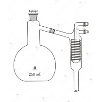 Distillation Apparatus, Consists of 2000 ml. flask, Friedrich condenser, and stopper.