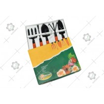 Garden Tool 5 Pcs. Set With Fixed Handle
