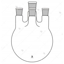 Flask Round Bottom, Four Neck, Center Neck and Three Parallel side Neck with Interchangeable Joints.