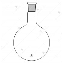Borosilicate Glass Flask Round Bottom Short or Medium Neck with Socket Manufacturer in India