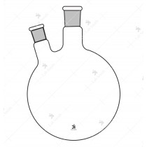 Flasks Round Bottom, Two Neck (Side neck at angle)