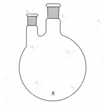 Flasks Round Bottom, Two Neck (Side neck at parallel)