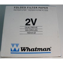 Grade 2V Pre-Folded Filter Paper for Qualitative Analysis