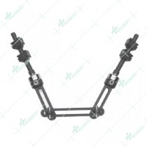 Long Fixator with Ball-Jointed Modules for Independent Screw Placement