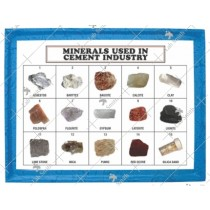 Minerals Used in Cement Industry (Set of 15)