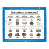 Minerals Used in Building a House (Set of 10)