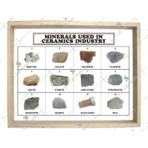 Minerals Used in Ceramics Industry (Set of 10)