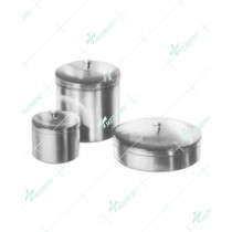 Round Metal Boxes and Medicine Cups