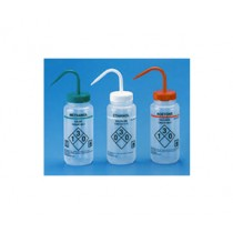 Self venting labeled wash bottles