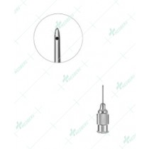 Shahinian Lacrimal Cannula, Bullet-shaped Tip 0.3mm side opening 23 gauge, 11mm long
