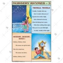 Twinkle Twinkle, Hickory Dickory Dock Nursery Chart