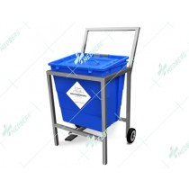 Waste Segregation Trolleys (Stainless Steel) 30 Ltr